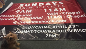 Church banner printed in Orange County by Printex Printing and Graphics