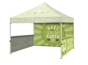 Custom printed event tent with optional sides