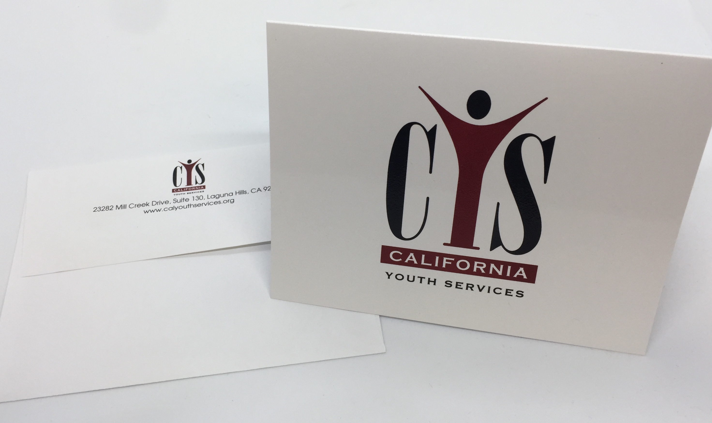 California Youth Services Full Color Notecard and Printed Envelope