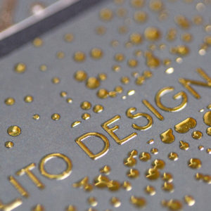Raised Foil Gold Business Cards