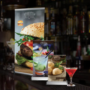 Table top and large retractable banners