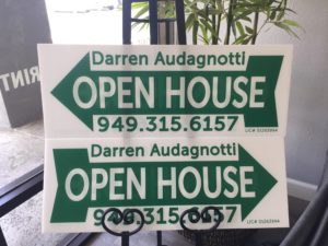 Custom Printed Coroplast Real Estate Open House Signs
