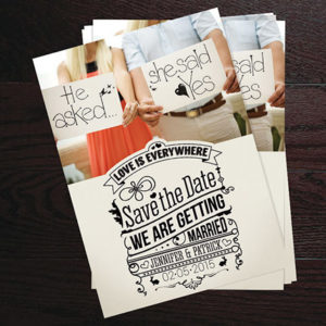 Save the Date Cards for Weddings and Special Events