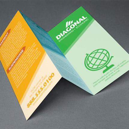 Custom printed tri-fold brochure