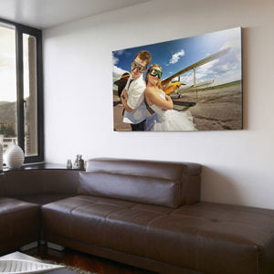 Custom printed photo onto stretched canvas