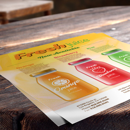 Professional flyer printing in Orange County