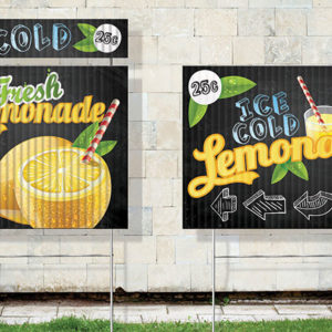 Outdoor sign printing in Orange County