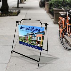 Custom printed sidewalk signs