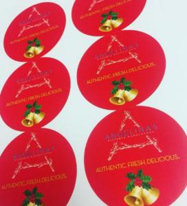 Custom Printed Holiday Labels