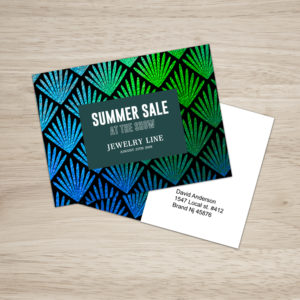 Post card printing services