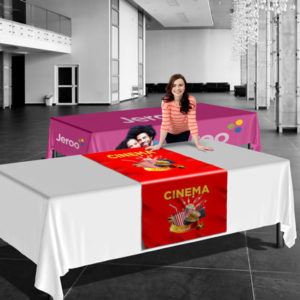Trade show tablecloth table cover