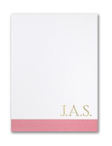 Simple Color Block Monogrammed notecard