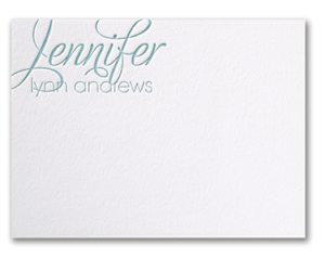Embossed Letterpress Notecards