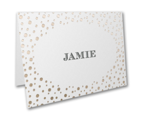 Personalized Name Notecard with Polka Dots
