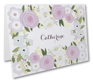 Floral personalized notecards