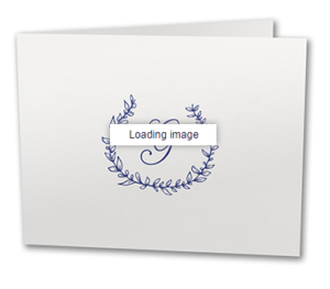 Personalized notecards with initial