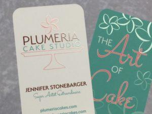 Custom Printed Raised Spot UV Business cards